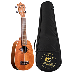 Amahi Penguin Mahogany Ukulele in Pineapple Shape