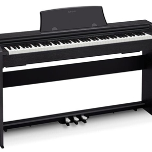 Casio Digital Piano with Stand, Key Cover, 3 Pedal Assembly Black