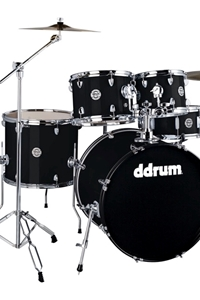 Ddrum D2 5 Piece Complete Drum Set w/ Hardware and Cymbals Midnight Black